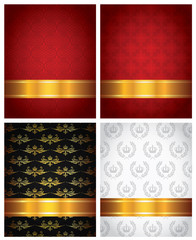 set of decorative backgrounds
