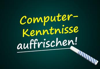 Computer-Kentnisse auffrischen (Computerkenntnisse, Tafel)