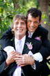 Handsome Gay Couple  - Wedding Portrait