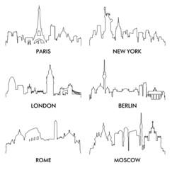 city silhouette vector4(6)