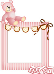 Pink Baby Frame