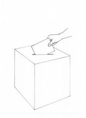 Wählen an der Wahlurne