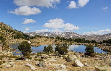 lac de montagne en andorre