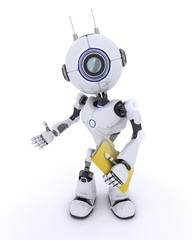 Robot with folder and documents
