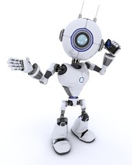Robot with cell phone
