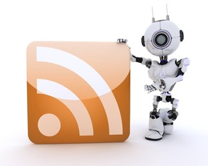 Robot with an RSS symbol