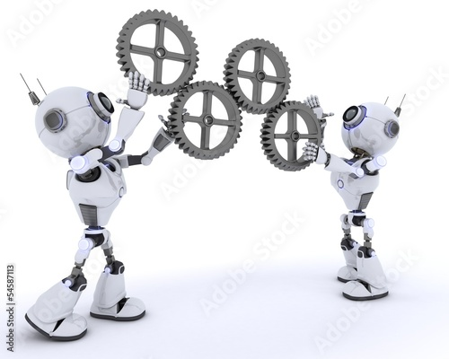 Robots with gears