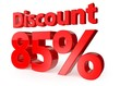 85 percent discount - 3d text