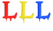 Paint dripping alphabet