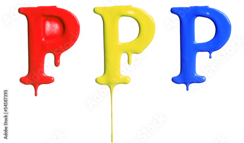 Paint dripping alphabet
