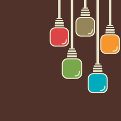 colorful bulb background vector