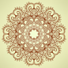 round brown pattern