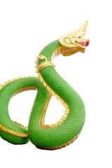 Green Serpent statue.
