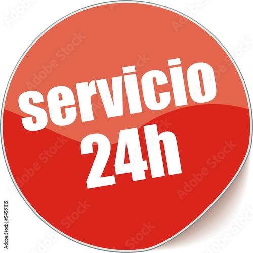 étiquette servicio 24h