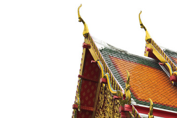Top of roof at Thai temple