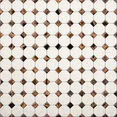 Illustration of beige Tile mosaic background for design