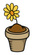 Cartoon Flower Pot