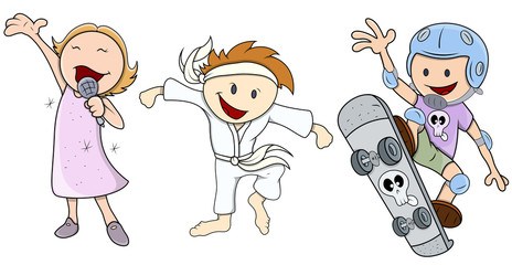 Kids - Various Profession - Vector Illustrations