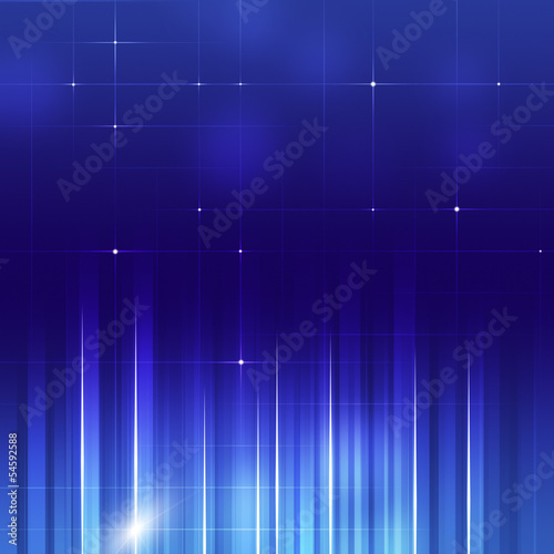 Abstract Vertical Lines Business Blue Backgorund