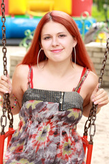 Red haired young girl