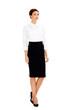 Elegant slender businesswoman