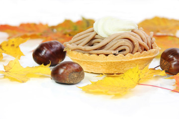 Vermicelles Cake - made of sweet chestnut puree