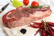 deliziosa carne bistecca di manzo su  legno