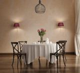 Romantic chic elegant dining room