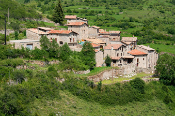 Beautiful mountain village in the eastern Pyrenees.