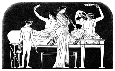 Ancient Greece : Diner - Lits de Repas