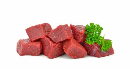 Mięso na białym tle