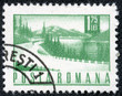 stamp printed in the Romania, shows the road