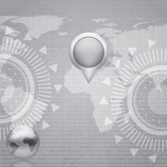World Map futuristic background
