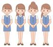 制服の女性