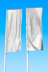 Two white flag