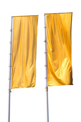 Two yellow flag