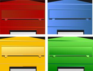 Briefkästen – farbig
