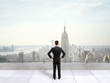 businessman on roof