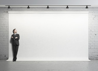 businessman in studio