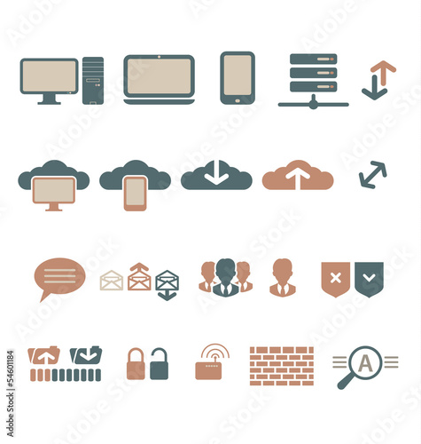 IT-bisiness and Digital Communication Icons