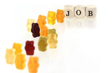 Gummy Bear series - lining up for jobs (conceptual)
