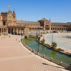 view of square of Spain, Sevilla, Spain