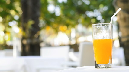 Fresh orange juice stock footage
