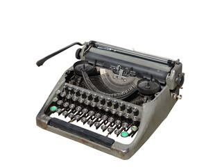 Старинная пишущая машинка.