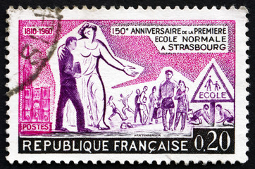 Postage stamp France 1960 Education and Children