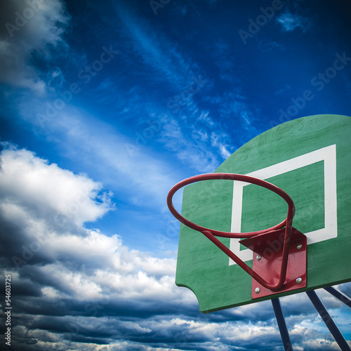 Basketball hoop at the playground