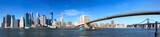 Manhattan panorama and Brooklyn Bridge, New York City