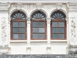 vintage window on wall