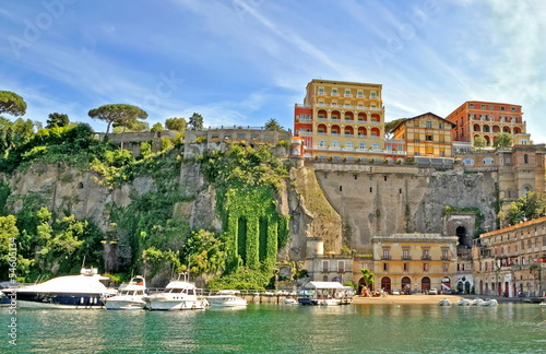 canvas print picture sorrent, italien hdr