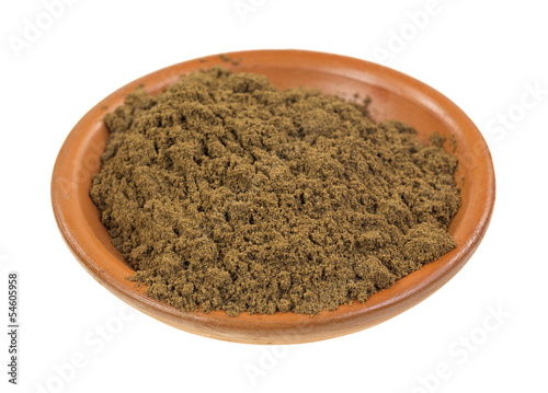 Allspice in clay bowl